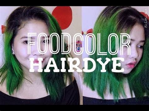 food color hair dye diy food color hairdye how to dye your hair using food