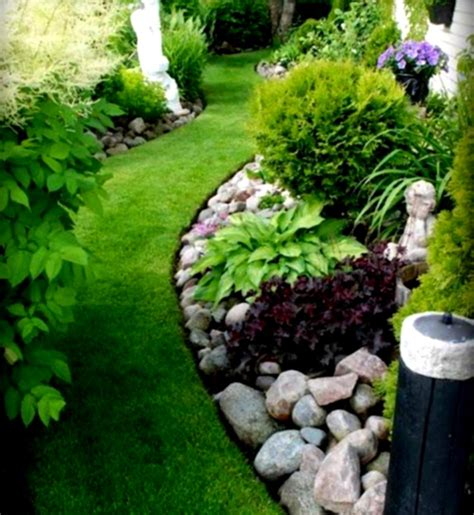 garden ideas with rocks river rock landscaping ideas home decorating and tips