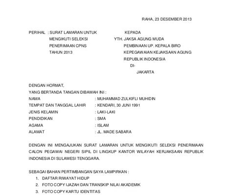 Surat Lamaran Cpns Kemendikbud by Contoh Surat Lamaran Kerja Choice Image Card Design And
