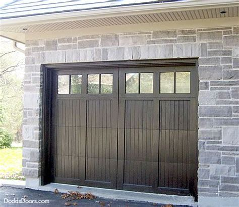 Gray Rock With Black Garage Door Black Garage Door