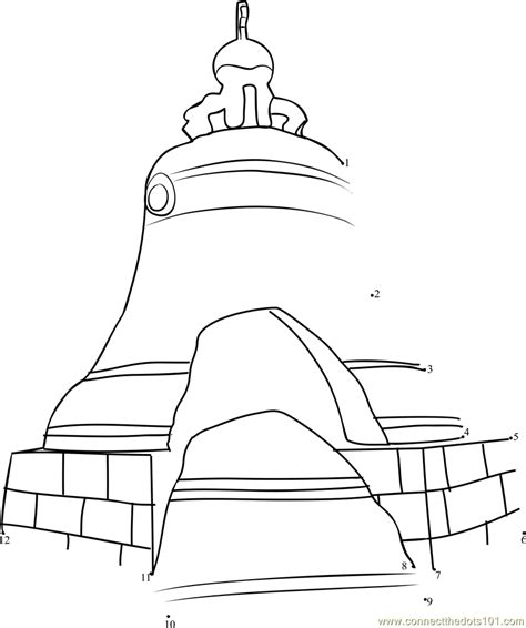 largest printable dot to dot tsar s bell the largest bell in the world dot to dot