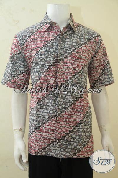 Kemeja Hem Lengan Pendek Exclusive Batik Parang White Rice batik parang warna kalem pas banget untuk kerja kantoran baju batik klasik cap tulis model