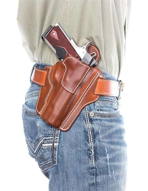 Handmade Holsters - leather concealed carry pancake holster d custom