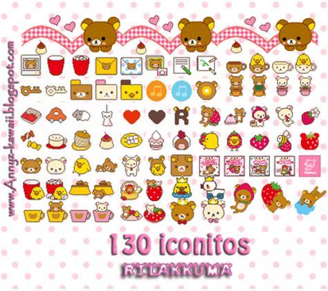 imagenes de iconos kawaii fashyn kawaii 130 mini icons adorables