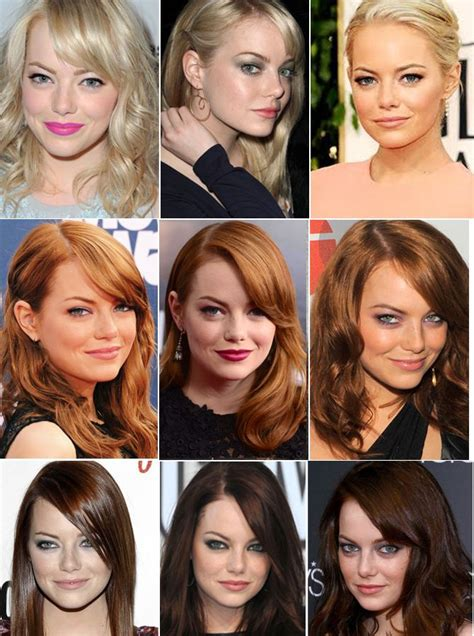 dorty blonde hair transformation from brown hair emma stone