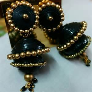 How To Make Paper Jewellery Jhumkas - nethra s fashion boutique completed orders quilled