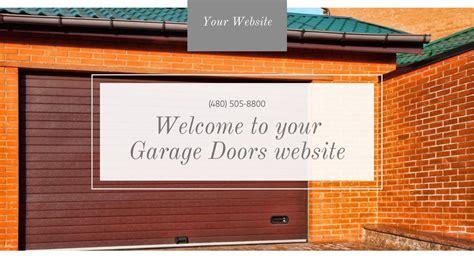 Garage Door Website Template by Garage Doors Website Templates Godaddy