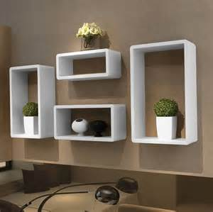 moderne regale modern floating wall shelves white box floating wall