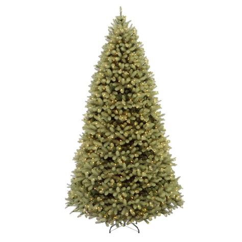 home accents 9 ft pre lit downswept douglas fir artificial tree with clear