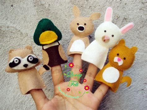 Boneka Karakter Dari Flanel boneka jari flanel untuk mendongeng edukasi untuk anak anak paud dan tk qorry felt n craft