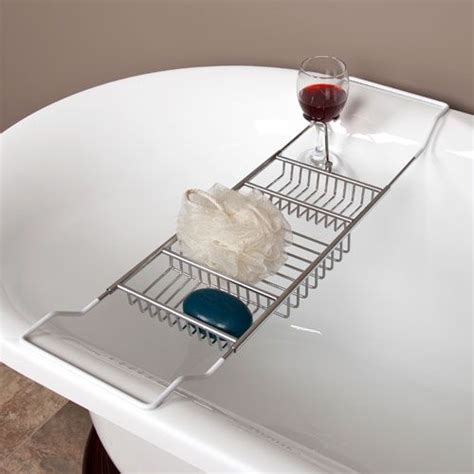clawfoot bathtub caddy 25 best ideas about bathtub wine glass holder on