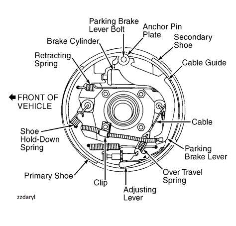 rear drum brake diagram rear drum spewing brake fluid page 2 ford ranger forum