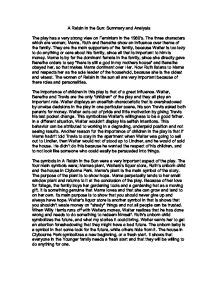 A Raisin In The Sun Essay by A Raisin In The Sun Character Analysis Essay Dissertation