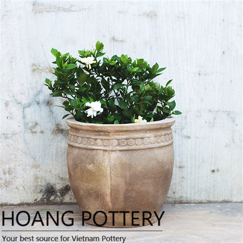 Cheap Flower Pots And Planters by Cheap Beautiful Clay Flower Pots Hptc087 Hoang