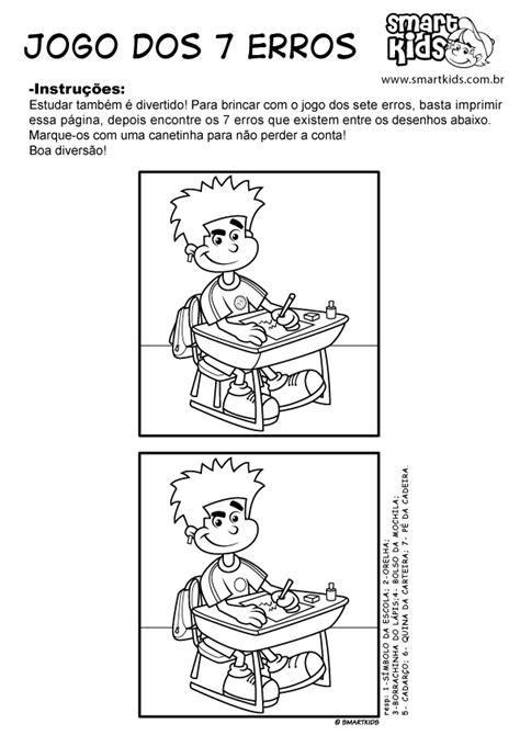 Atividade Dia do Estudante Sete Erros - Atividades - Smartkids