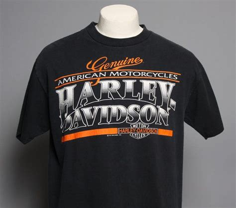 Tshirt Evolution Chap 90s harley davidson tshirt genuine american tough luck