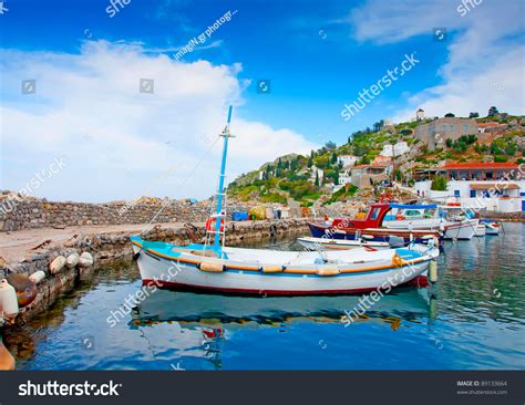 hydra sport boats official website wooden fishing boats beautiful small harbour stock photo