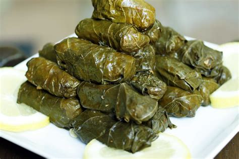 stuffed grape leaves warak enab recipe dishmaps