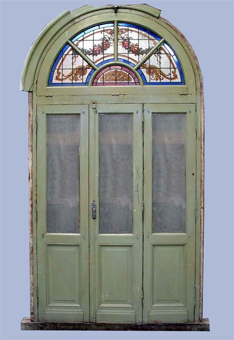 Interior Doors With Arched Transom by Arched Door With Stained Glass Transom Olde Things