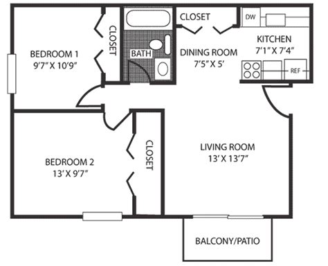 how big is 700 square feet 2 bed 1 bath 700 sq ft aspen chase apartments