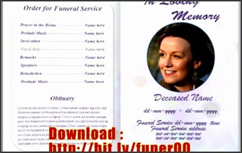 9 Download Free Funeral Program Template Sletemplatess Sletemplatess Funeral Flyer Template Word