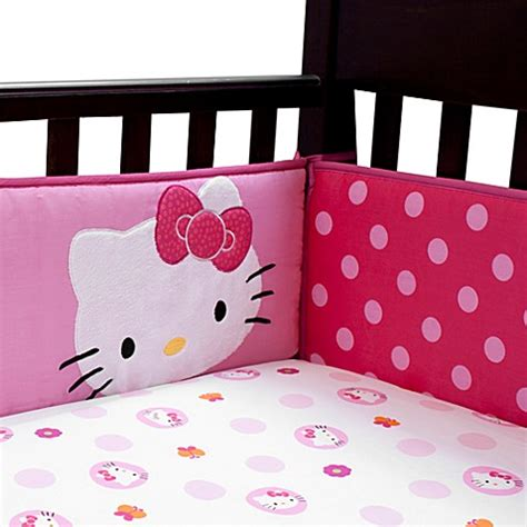 Buy Lambs Ivy 174 Hello Kitty Garden Crib Bumper From Bed Lambs And Hello Crib Bedding