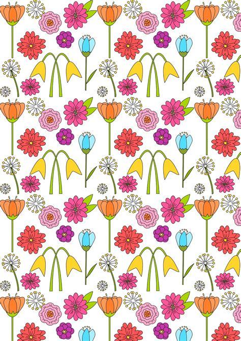 flower pattern on paper free digital spring scrapbooking paper ausdruckbares