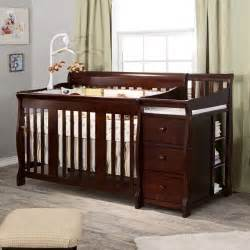 All In One Crib And Changing Table Storkcraft Tuscany 4 In 1 Convertible Crib And Changer Espresso Contemporary Cribs By