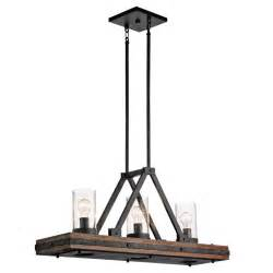 Kitchen Island Light Fixtures Kichler 43433aub Colerne Rustic Auburn Stained Finish