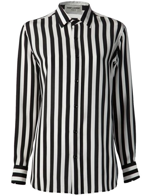Black And White Shirt How To Wear Your Laurent Black White Striped Crepe