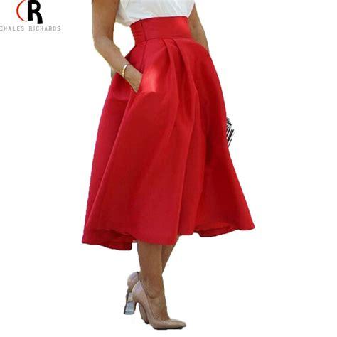 high waist pleated vintage midi skirt 2016