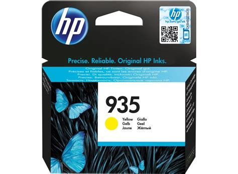 cartridge hp 935 xl yellow hp 935 yellow ink cartridge c2p22ae ebuyer