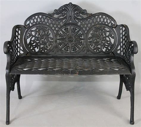 black wrought iron garden bench black painted wrought iron garden bench