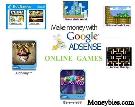 Make Money Playing Online Games - have an amazing online game then earn money from google adsense