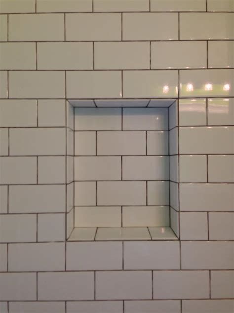 Subway Tile Ideas Bathroom by White Subway Tile Niche Detail Tile Work By Blake Tompkins