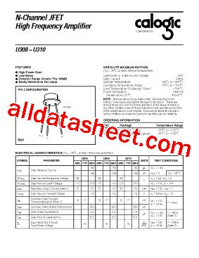 u310 transistor datasheet u310 datasheet pdf calogic llc