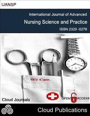 peer reviewed nursing and health care journal nursing impact factor international journal of advanced nursing science and practice