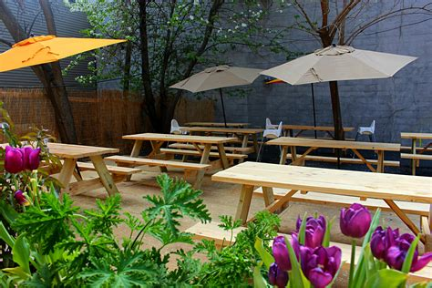 backyard beer garden map the best places to drink outdoors in bed stuy bed