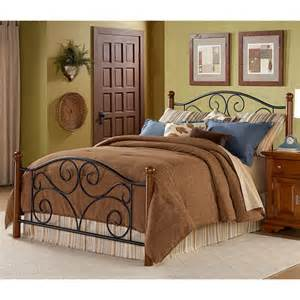 Ironwood Bed Frames And Mattress Doral Iron Wood Bed In Black Walnut By Fashion Bed