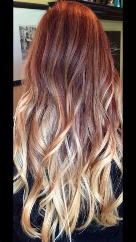red and blonde ombre pictures 17 best ideas about red to blonde ombre on pinterest red