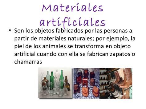 imagenes de objetos naturales y artificiales los materiales