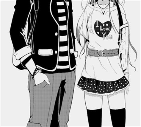 Hipster Bedroom i love you anime black and white couple image 581297