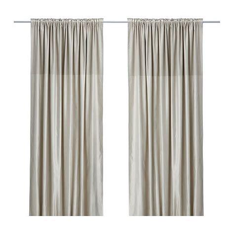 ikea beige curtains ikea dagny curtains drapes beige two tone satin classic 98 quot