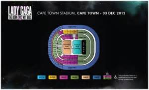 cape town stadium floor plan more gaga tickets released for ct