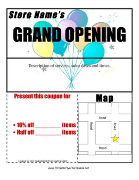 Grand Opening Flyer Grand Opening Flyer Template Free