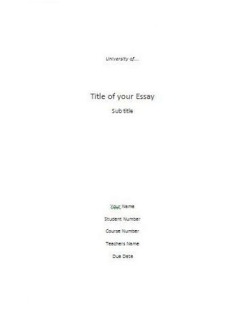 mla research paper cover page template