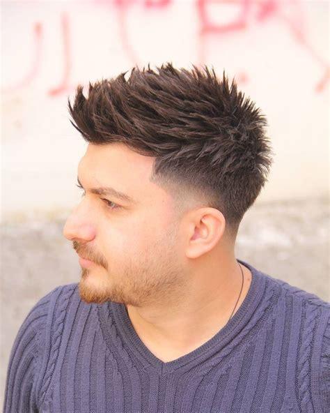 spiked  taper fade turkish man haircuts