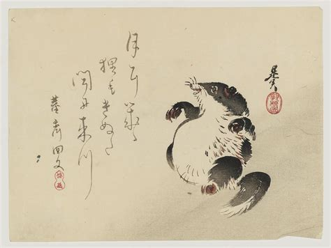 shibata zeshin racoon dog tanuki museum of fine arts