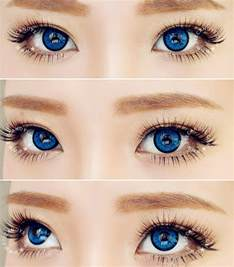 colored contact lenses eos dollyeye blue color contact lens