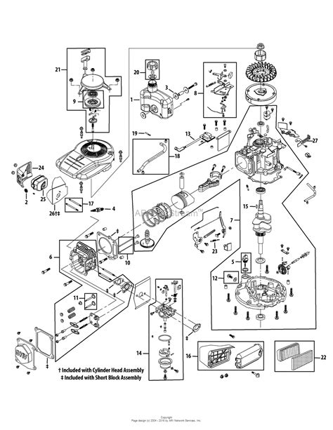 yard machine mower parts diagram mtd 11a 08ma029 2008 parts diagram for engine assembly